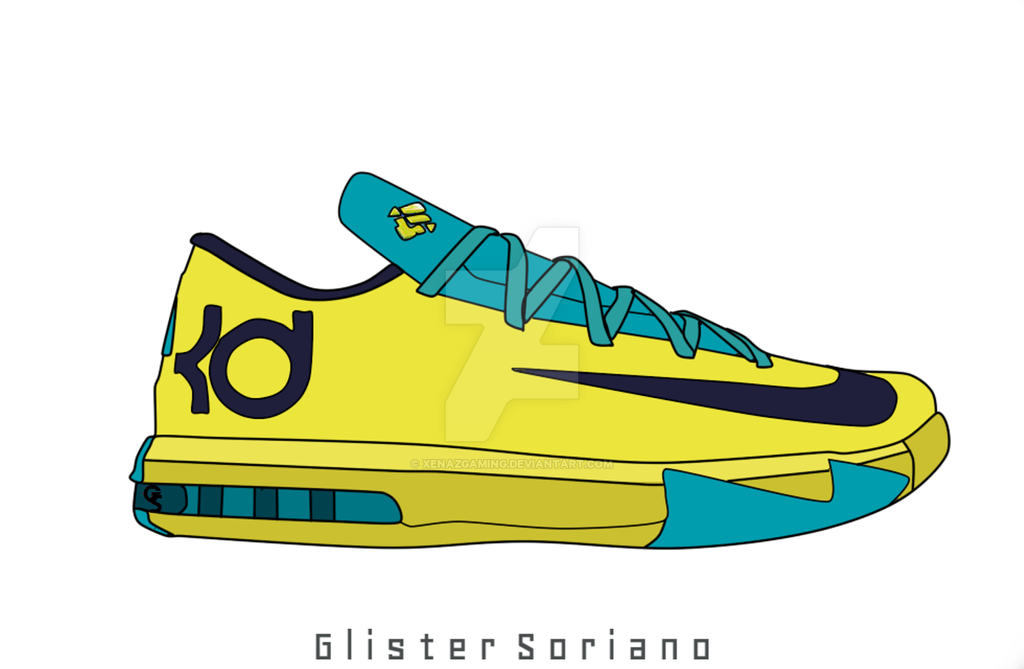 kd shoes drawing