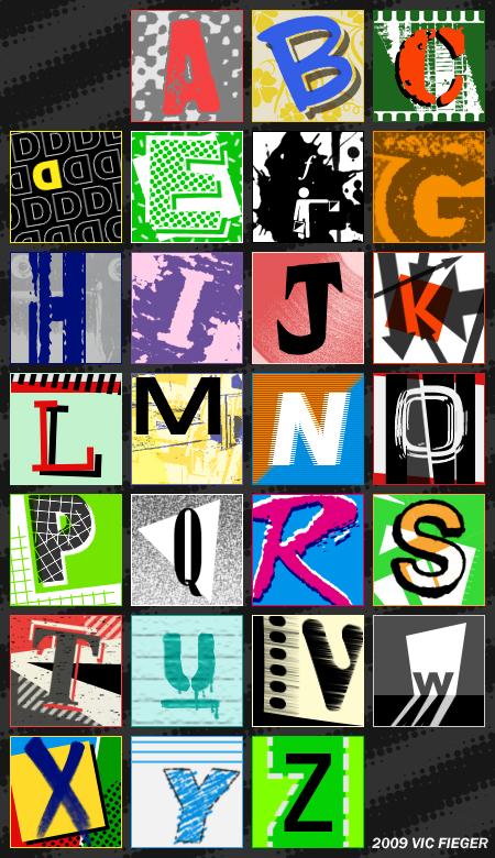 New Wave Alphabet by vcfgr