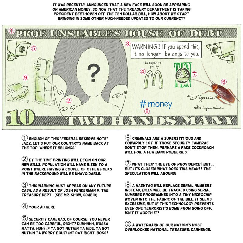 New Ten-dollar Bill by vcfgr