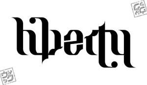 Liberty ambigram