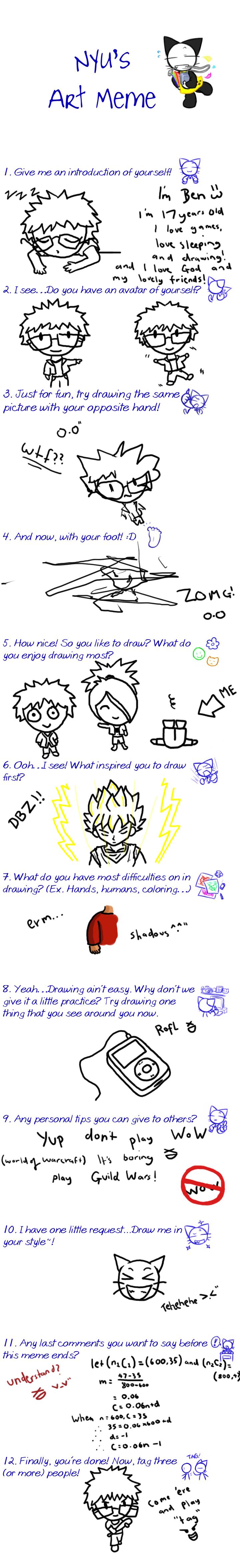 MY art meme by TheBlueFruit