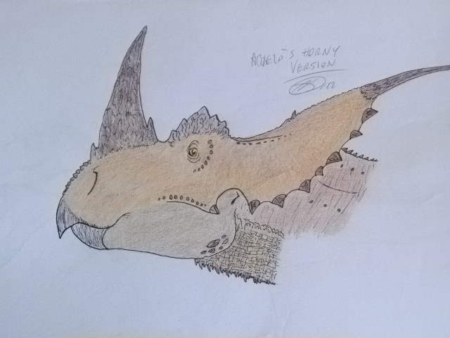 Horned Achelousaurus. by Kazuma27