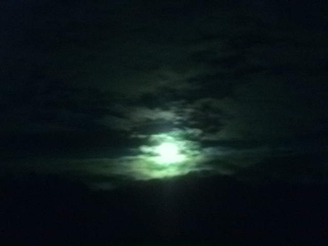 Greenish mist over the lonely moon by Kazuma27