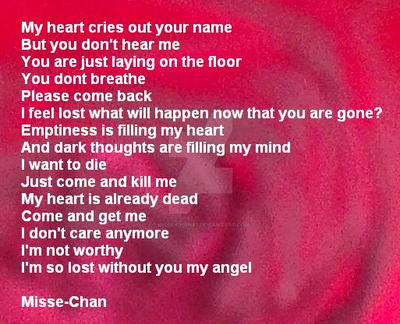 Poem 3 - Please come back by Misse-Chan87
