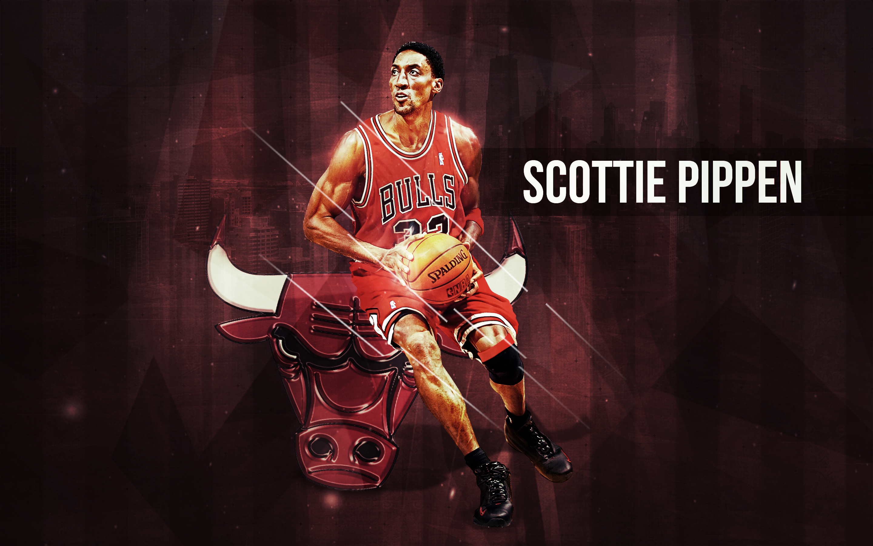 Scottie Pippen All Star Red Shoes