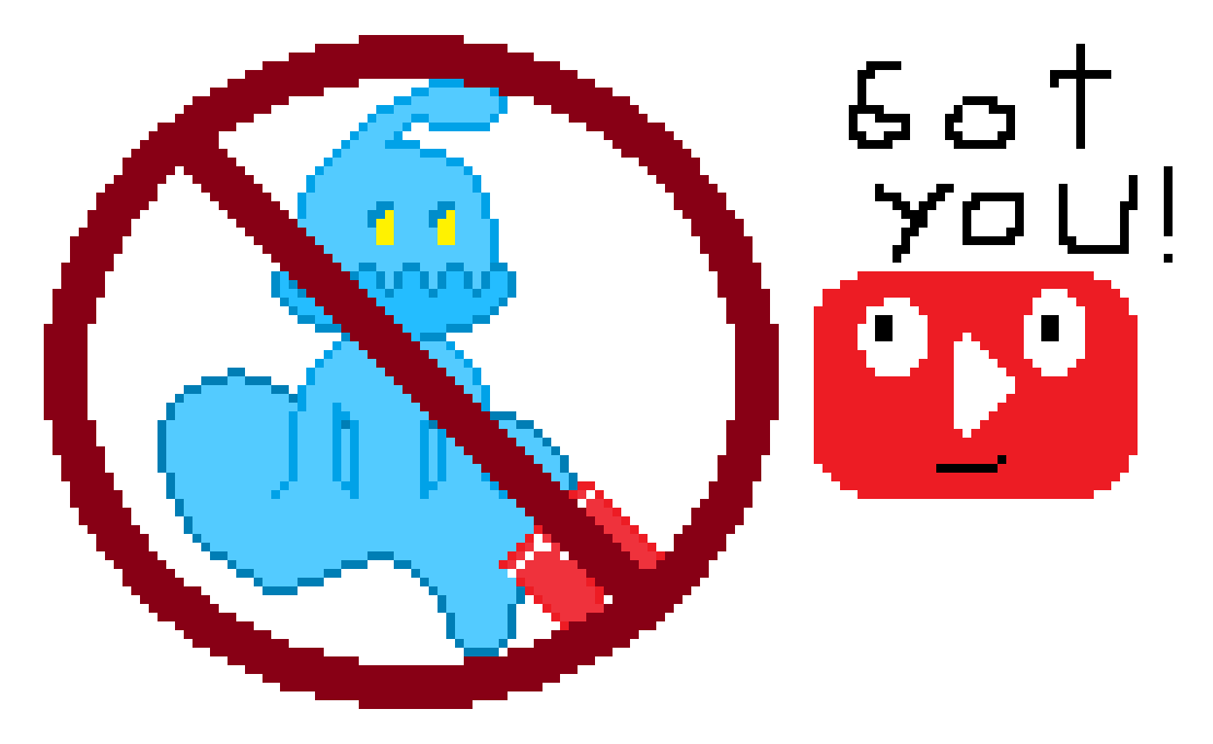 Haloz's Picture on the  NEW Youtube Policy(8-bit) by HalozAndRobMakeArt