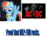 Rainbow Dash loves AC/DC
