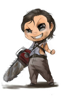 Chibi evil dead Bruce Campbell