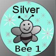Silverbee1- Button by Me2Smart4U