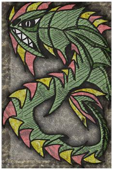 Great Pihranna Drake (Colored) by Me2Smart4U