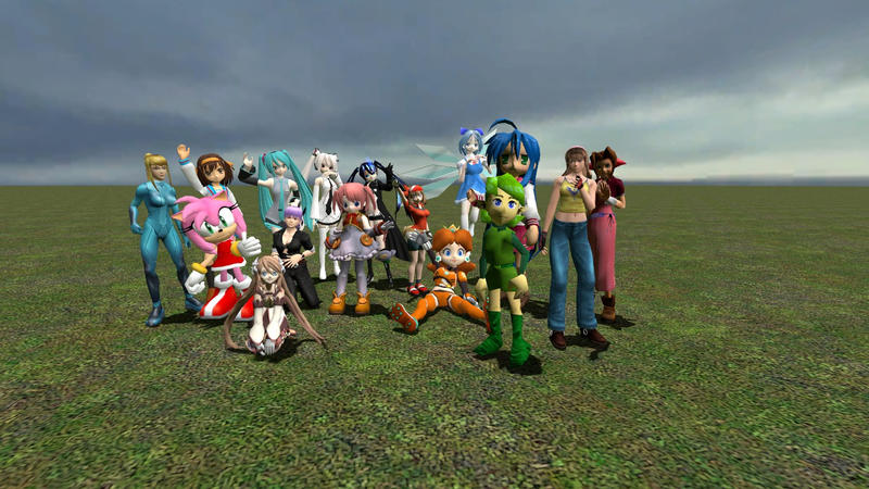 Anime Characters For Gmod : Gmod girls group photo by dunamissolgard on deviantart