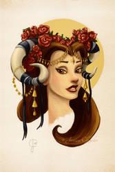 Tribal Princess Belle by jesschrysler