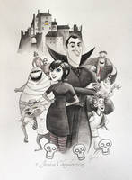 Hotel Transylvania - Poster Size Commission by jesschrysler