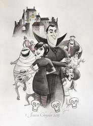 Hotel Transylvania - Poster Size Commission by jesschrysler