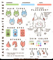 Cacteens: Traits Sheet by hanacowo