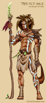 Concept Art - Tree Elf Male