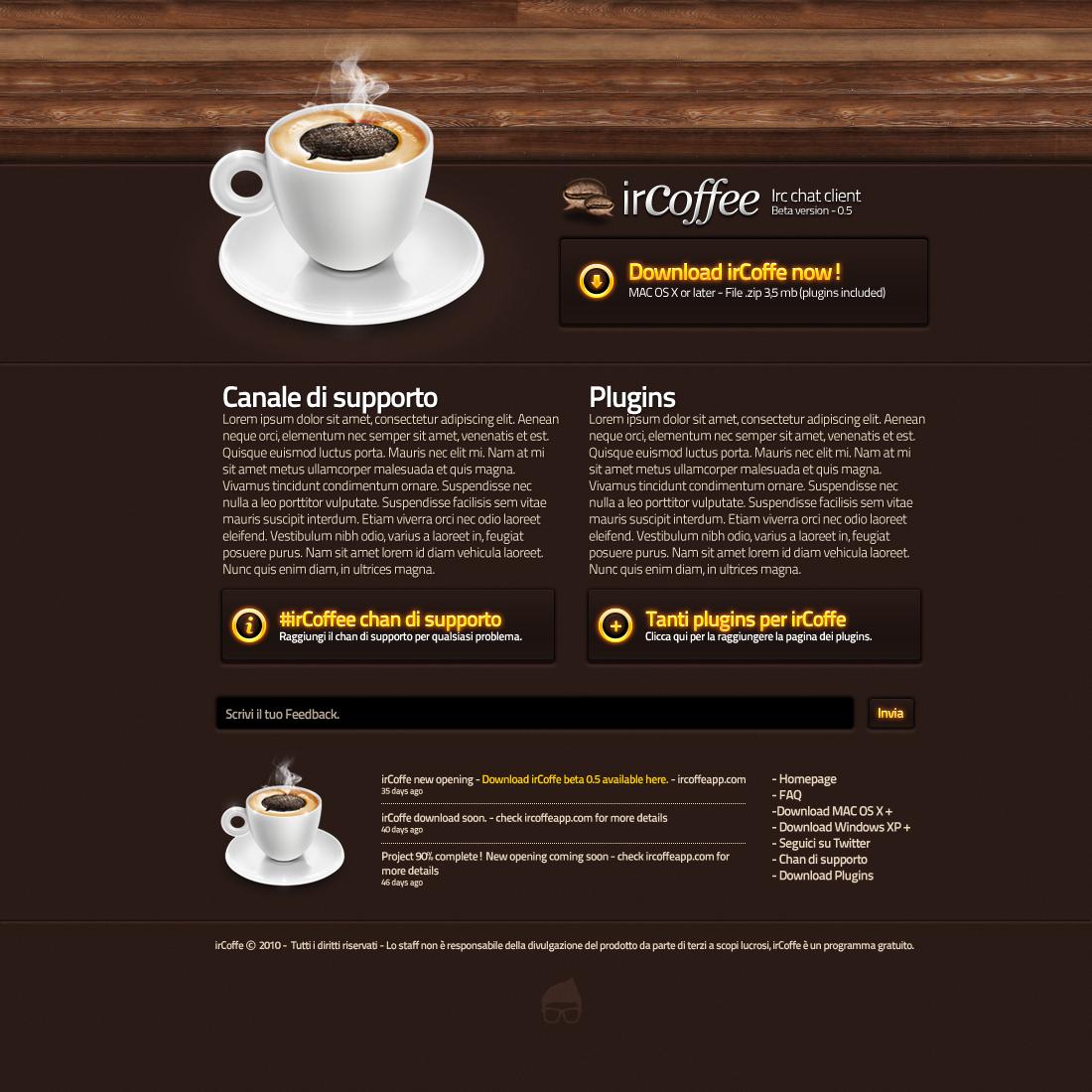 irCoffe Download Page by Svengraph