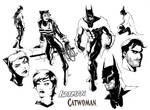 Batman and Catwoman designs