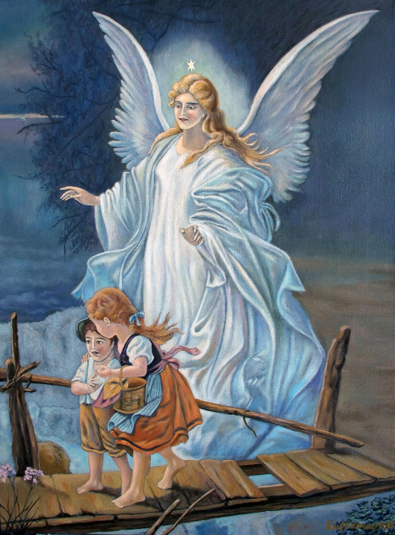 Guardian Angel Paintings Guardian Angel Commission by