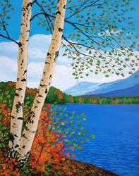 Early Autumn Birches