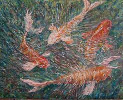 Koi fish by Landscapist