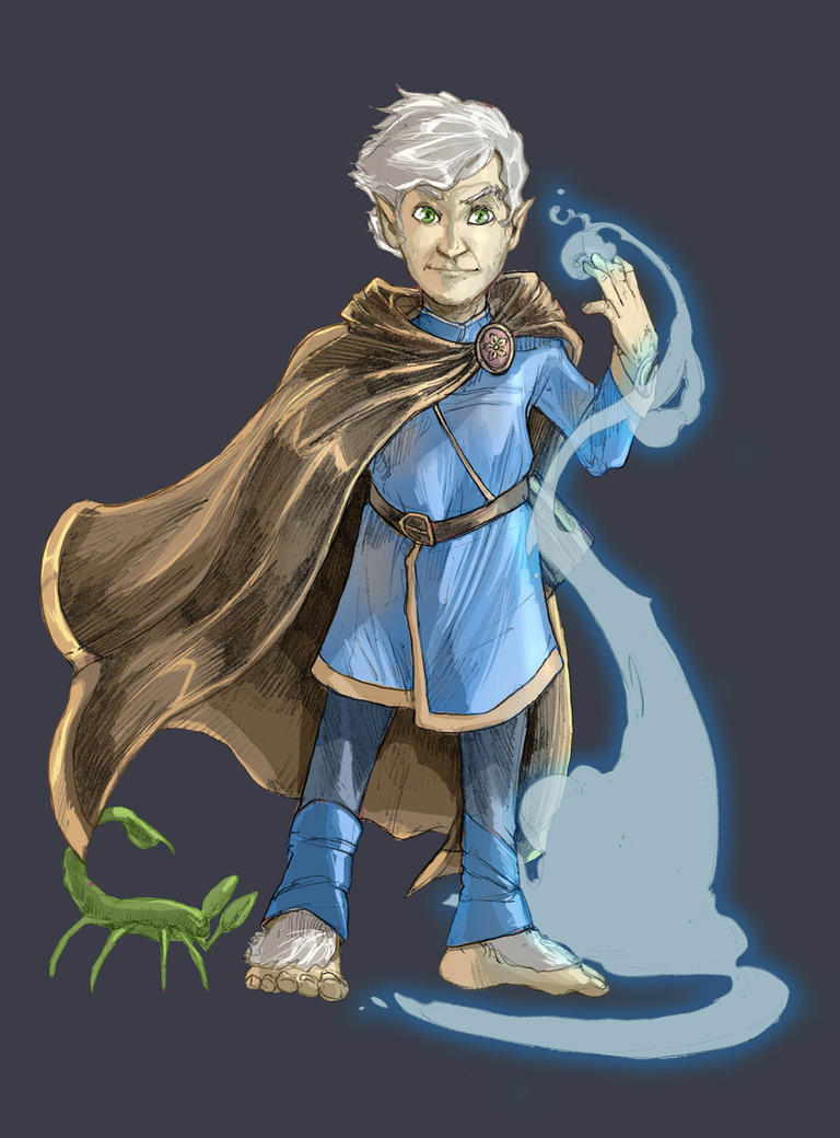 Pathfinder Halfling Wizard by facelesscow