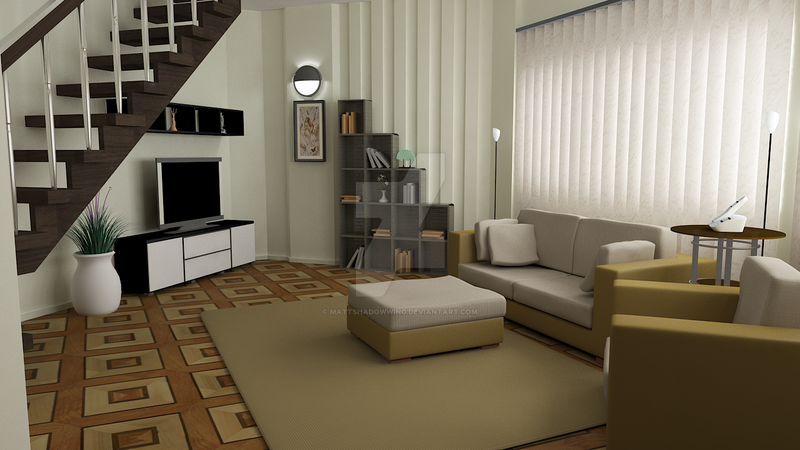 Waterhouse Townhouse Design 1 Living Room By