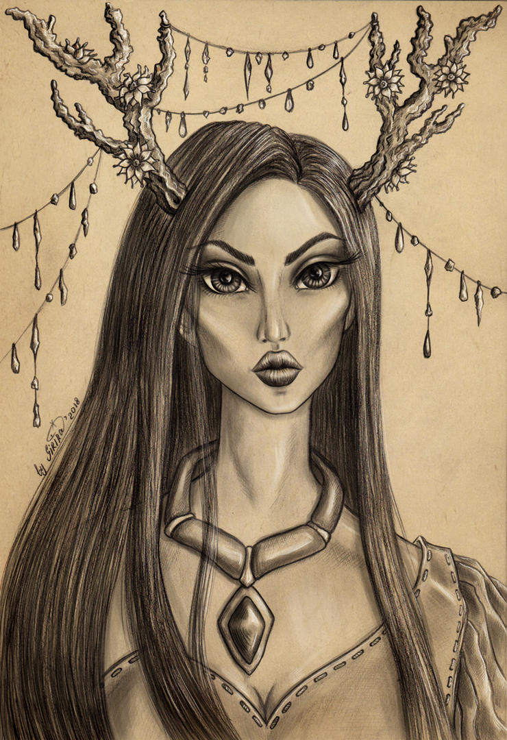 Pocahontas (the horned princesses) by SiriraLiluria