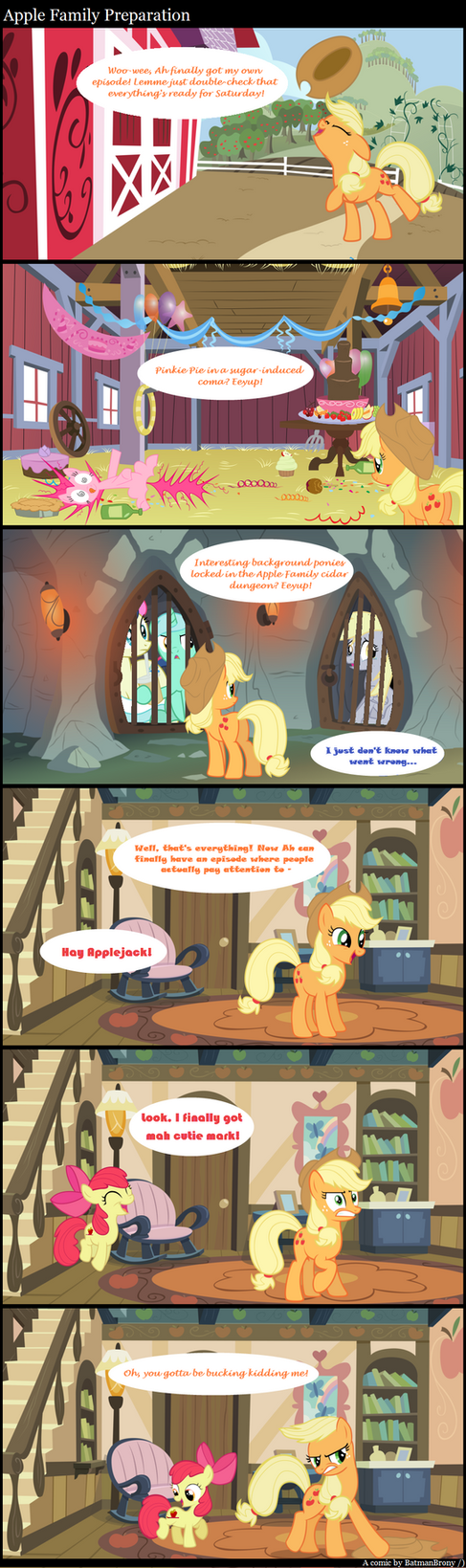 Apple Family Preparation by BatmanBrony