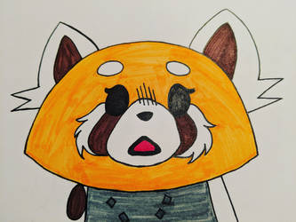 Inktober Day 4 - Aggretsuko by Before-I-Sleep
