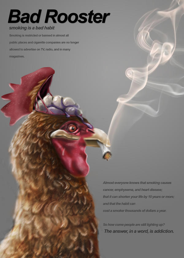 an image of sMOKING smoking rooster by Timdev