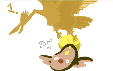Fearow and stunfisk by sage-halo