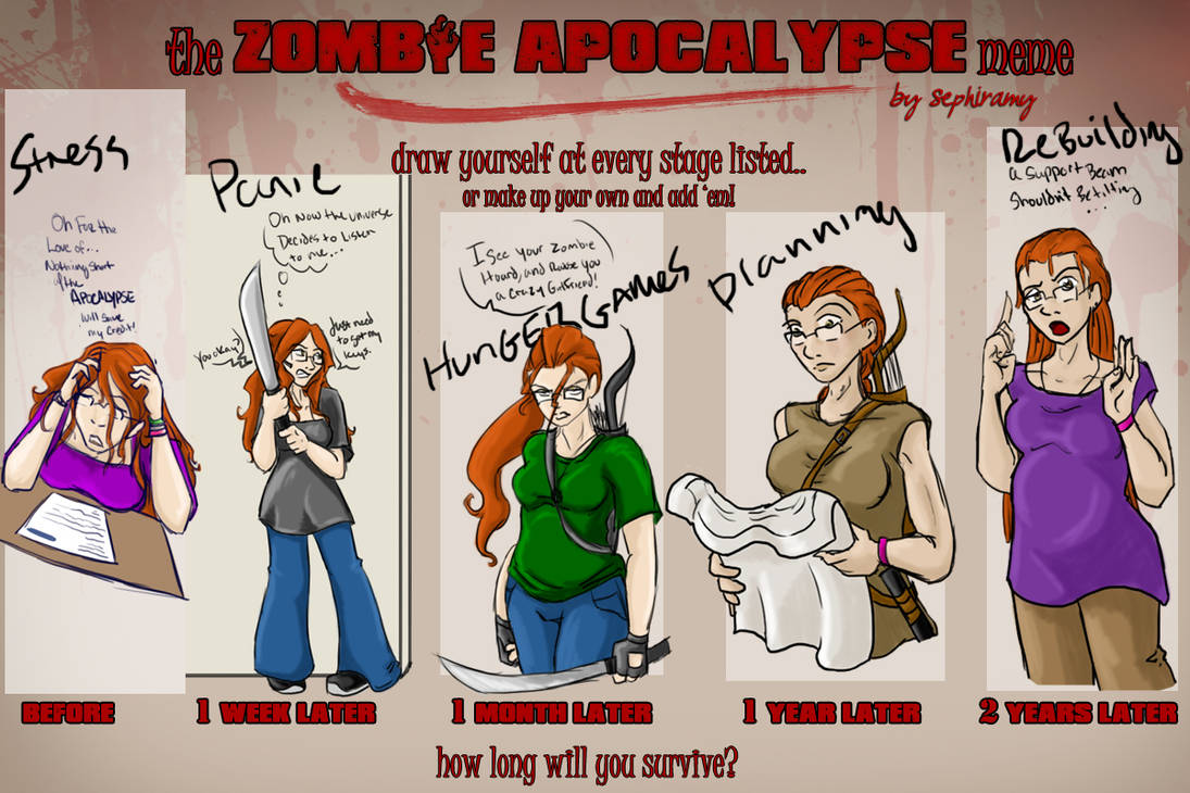 Zombie apocalypse meme by nekodemonstar