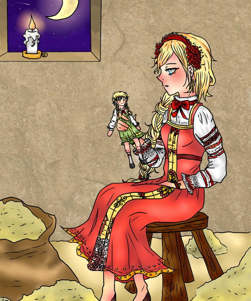 Projet de livre de contes Vassilissa_la_belle_by_wolfsnape-d7yw8sh