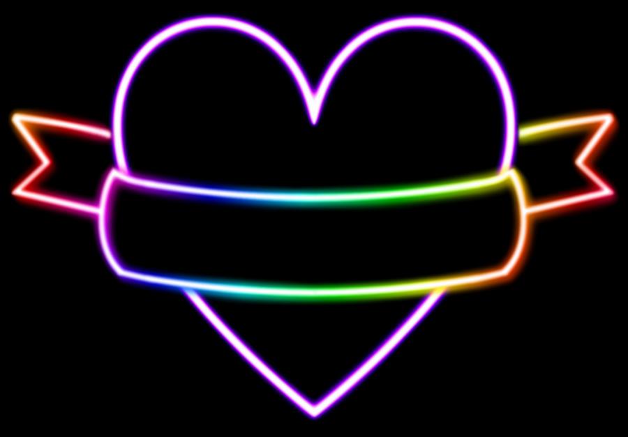 Prismatic Neon Heart by SaphFire00 on DeviantArt