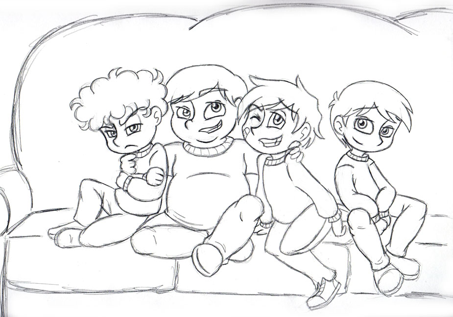 SP: The Boys at Christmas - Age 9 by Invader-Sam