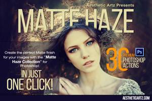 Premium Matte Haze Photoshop Actions by AestheticArtz