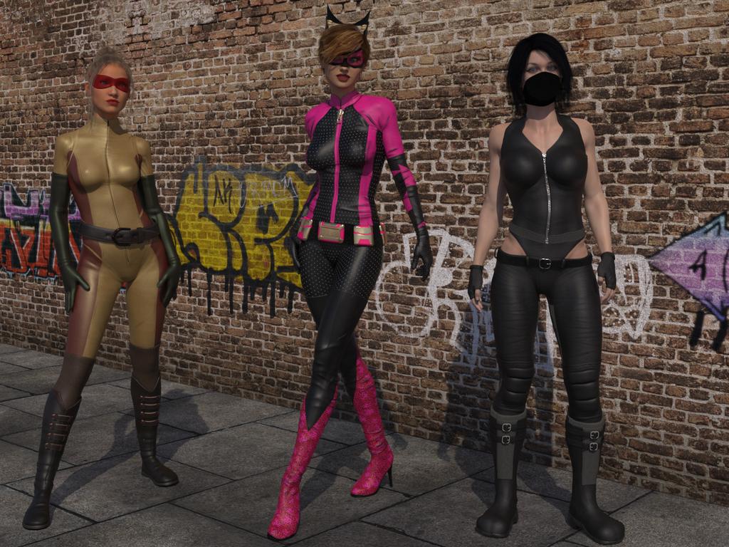 Superheroine Raw by Dracis3D