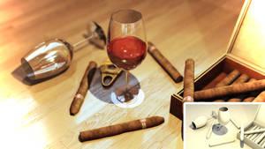 Wine and Cigars by NikolaUgarkovic203