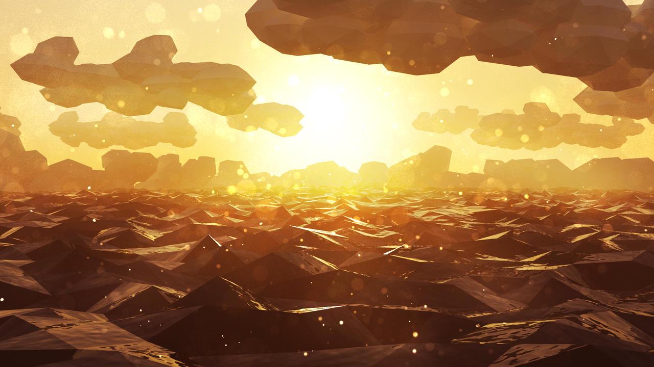 Low Poly Sunset by NikolaUgarkovic203