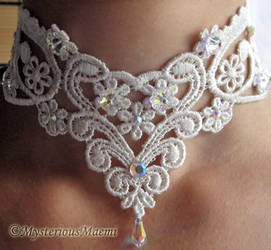 Victorian Wedding Bridal Faerie Fairy necklace