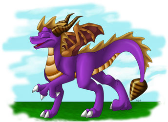 spyro old school by Minerea