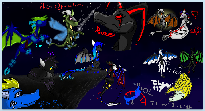 dragons dragons iscribble by Minerea