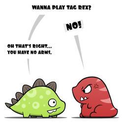 Wanna play tag Rex?