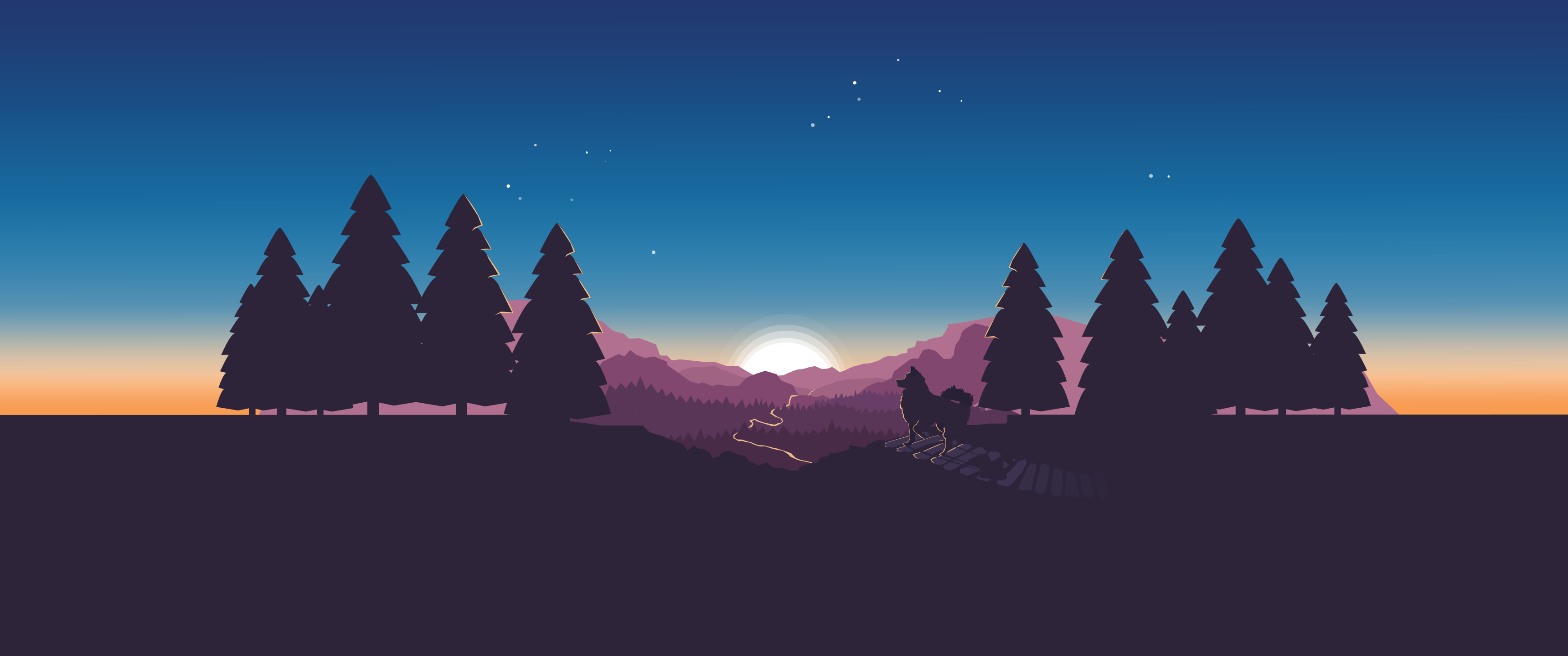 Vector Wallpaper 3440x1440 by