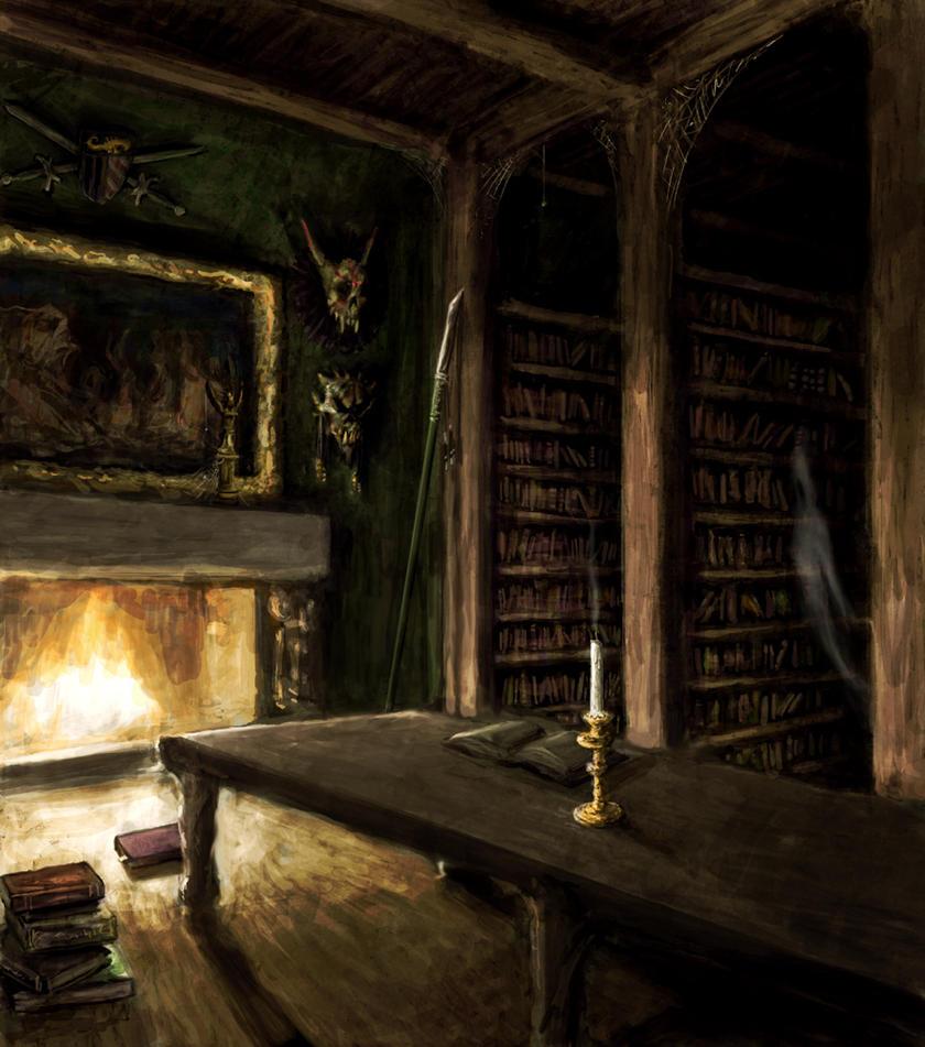 Haunted Library by NicDeGrootArt on DeviantArt