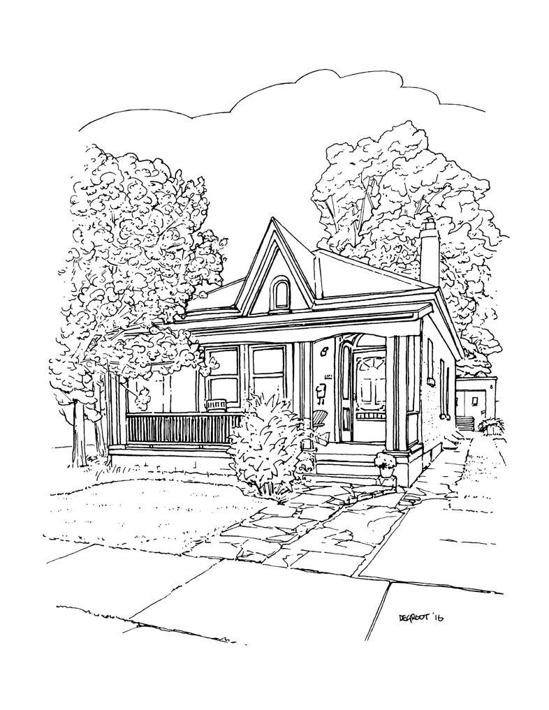 No. 164 Bruce Street - Wortley Village by NicDeGrootArt