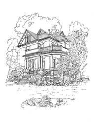 Old Porch - Wortley Village by NicDeGrootArt