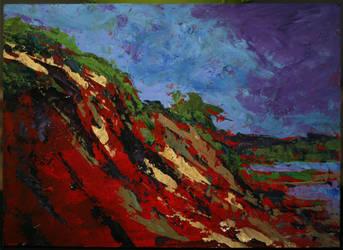 Bright Bluffs by NicDeGrootArt