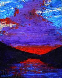 Red Lake by NicDeGrootArt